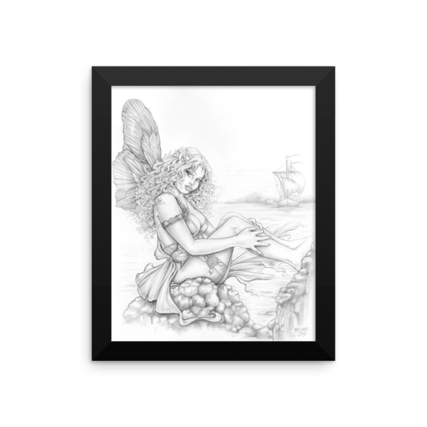 Seaside Fairy Framed 8×10 Art Print