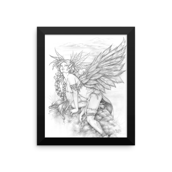 Feather Wings Framed 8×10 Art Print